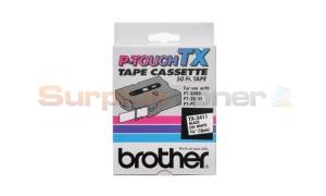 BROTHER P-TOUCH TAPE BLACK/WHITE (3/4 X 50) (TX-2411)