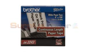 BROTHER P-TOUCH WHITE PAPER TAPE 4IN X 100IN (DK2243)