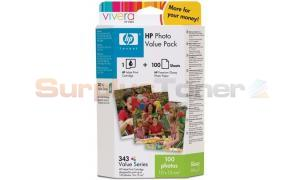HP NO 343 INK TRI-COLOR PHOTO VALUE PACK 100 SHEET (C7934EE)