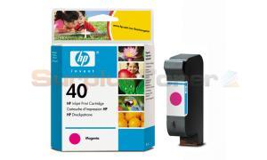 HP NO 40 INK CART MAGENTA 42ML (51640M)