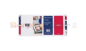 HP DESIGNJET 1050C NO 80 PRINTHEAD AND CLEANER MAGENTA (C4822A)