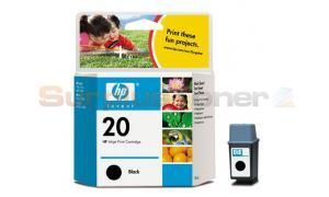 HP NO 20 INKJET CART BLACK (C6614DE)