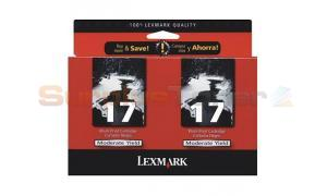 LEXMARK NO 17 PRINT CARTRIDGE BLACK TWIN PACK (53A0834)
