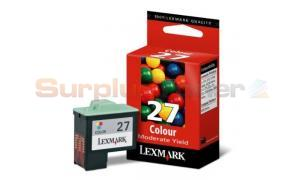 LEXMARK NO. 27 PRINT CART COLOR MODERATE USE (10N0227E)