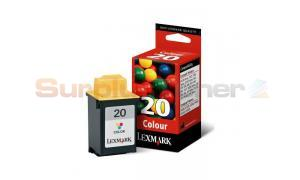 LEXMARK 20 INK CARTRIDGE COLOR (15MX120E)