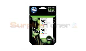 HP NO 901 INK CART TRI-COLOR TWIN PACK (CZ076FN#140)