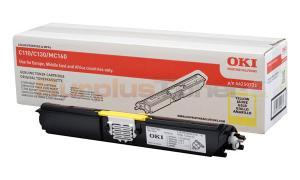 OKI C110 C130 TONER CARTRIDGE YELLOW HY (44250721)