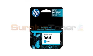 HP NO 564 INK CARTRIDGE CYAN (CN681W)