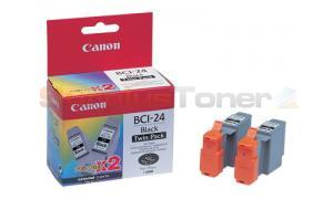 CANON BCI-24 INK CTG BLACK TWIN PACK (6881A009)
