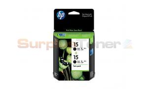 HP NO 15 PRINT CART BLACK TWIN PACK (CC626AA)