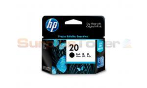 HP NO 20 INKJET PRINT CARTRIDGE BLACK (C6614DA)