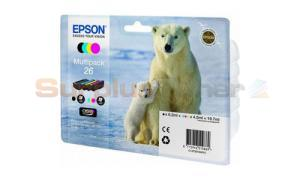 EPSON XP-600 / XP-800 INK CTG MULTI-PACK CMYK (C13T26164010)