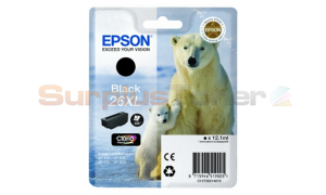 EPSON XP-600 / XP-800 INK CARTRIDGE BLACK HY (C13T26214010)