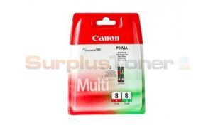 CANON CLI-8R CLI-8G INK TANK RED/GREEN MULTIPACK (0626B027)