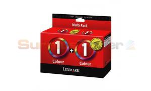LEXMARK NO 1 PRINT CART COLOR TWIN PACK (80D2955B)