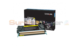 LEXMARK X746 TONER CARTRIDGE YELLOW (X746A2YG)