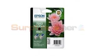 EPSON STYLUS COLOR 480 INK CTG BLACK TWIN PACK (C13T01340220 )