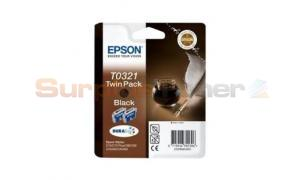 EPSON STYLUS C70 INK CART BLACK TWIN PACK (C13T03214220)