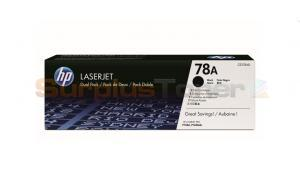 HP NO 78A PRINT CART BLACK DUAL PACK (CE278AD)