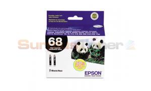 EPSON NO 68 INK CART BLACK HY TWIN PACK (C13T0681B6)