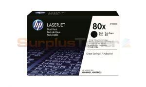 HP NO 80X PRINT CARTRIDGE DUAL PACK 13.8K (CF280XD)