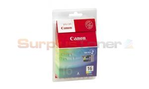 CANON BCI-16 INK TANK COLOR TWIN PACK (9818A014)