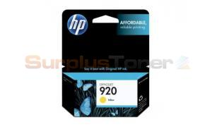 HP NO 920 INK CARTRIDGE YELLOW (CH636AE)