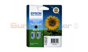 EPSON STYLUS 680 685 INK CART BLACK TWIN PACK (C13T01740220)