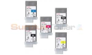 CANON PFI-102 INK BUNDLE: BLACK, MATTE BLACK, CYAN, MAGENTA, YELLOW (130ML) (PFI-102-BUNDLE-5-COLORS)