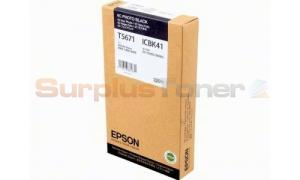 EPSON STYLUS PRO 7400 INK CTG PHOTO BLACK 220ML (C13T567100)