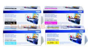 BROTHER HL-4150CDN TONER BUNDLE PACK (BLACK, CYAN, MAGENTA, YELLOW) (TN-310-BUNDLE-4-COLORS)