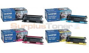 BROTHER HL-4040CN MFC-9440CN TONER BUNDLE PACK (BLACK, CYAN, MAGENTA, YELLOW) (TN-110-BUNDLE-4-COLORS)
