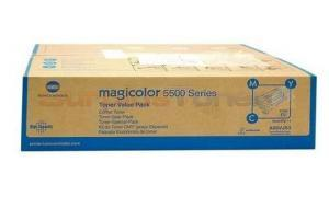 KONICA MINOLTA MC 5550 TONER VALUE KIT CMY (A06VJ53)
