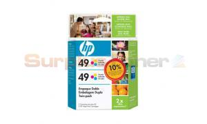 HP NO 49 INKJET PRINT CART TRI-COLOR TWIN PACK (C8799FL)
