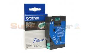 BROTHER TC TAPE BLACK ON GREEN 12 MM X 7.7 M (TC-701)
