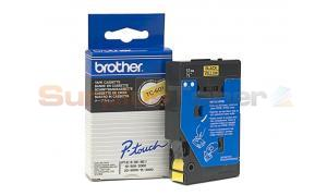 BROTHER TC TAPE BLACK ON YELLOW 12 MM X 7.7 M (TC-601)