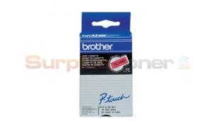 BROTHER TC TAPE BLACK ON RED 9 MM X 7.7 M (TC-491)