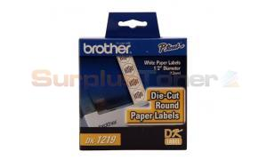 BROTHER P-TOUCH DIE CUT DIAMETER RND LABELS 1/2IN (DK1219)