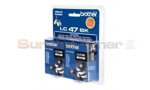 BROTHER DCP-110C INK CART BLACK TWIN PACK (LC-47BK2PK)