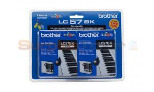 BROTHER MFC-3360C INK CART BLACK TWIN PACK (LC-57BK2PK)