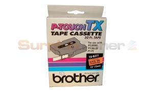 BROTHER P-TOUCH BLACK ON FLOURESCENT 12MM X 15 M (TX-B311)