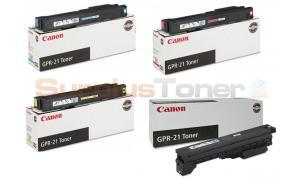 CANON GPR-21 TONER BUNDLE PACK (BLACK, CYAN, MAGENTA, YELLOW) (GPR-21-BUNDLE)