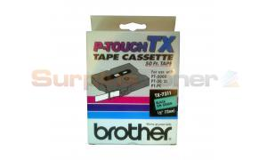 BROTHER P-TOUCH TAPE BLACK/GREEN (1/2 X 50) (TX-7311)