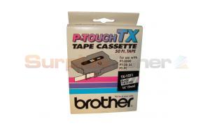 BROTHER TAPE CTG FOR PT8000 BLACK ON CLEAR 3/8IN X 50 FT (TX-1211)