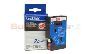 BROTHER TC TAPE WHITE ON RED 9 MM X 7.7 M (TC-495)