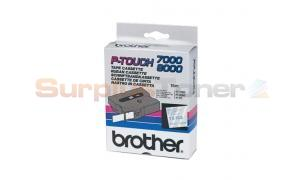 BROTHER TX LAMINATED TAPE BLUE ON CLEAR 24 MM X 15 M (TX-153)