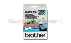 BROTHER TX TAPE BLACK ON BLUE 18 MM X 15 M (TX-541)