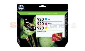 HP NO 920 INK CARTRIDGE CMY COMBO-PACK (B3B30FN)