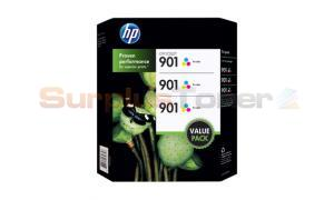 HP NO 901 INK CART TRI-COLOR TRI-PACK (CZ720BN)