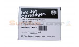 PITNEY BOWES E700 INK JET CARTRIDGE RED (769-3)